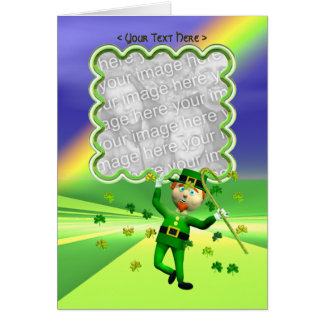 Cartão Modelo afortunado da dança do dia de St Patrick