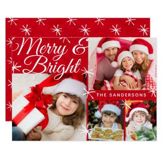 Cartão Modelo alegre e brilhante da foto de família do