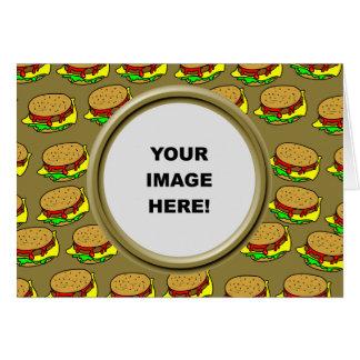 Cartão Modelo, beira do hamburguer