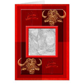Cartão Modelo chinês do boi de Astro