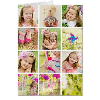 Cartão Modelo da colagem da foto personalizado