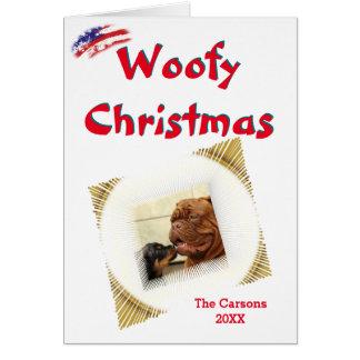 Cartão Modelo da foto da vinheta dos EUA do Natal de