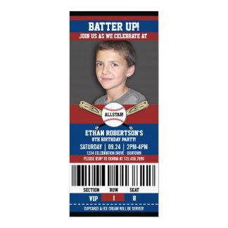 Cartão Modelo da foto do aniversário do basebol