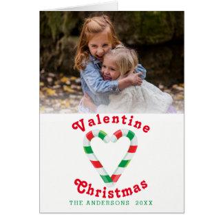 Cartão Modelo da foto do bastão de doces do Natal dos