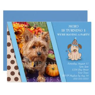 Cartão Modelo da foto do partido do filhote de cachorro