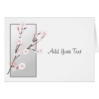 Cartão Modelo das flores de cerejeira do casamento