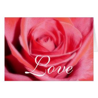 Cartão Modelo do amor da rosa vermelha
