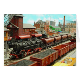 Cartão modelo do estação de caminhos-de-ferro