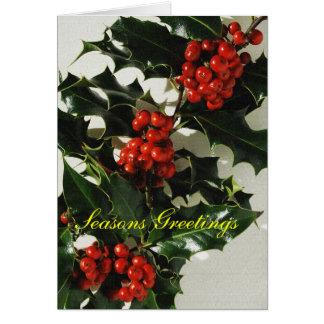 Cartão Modelo do Natal do azevinho