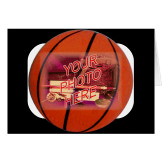 Cartão Modelo do quadro do basquetebol