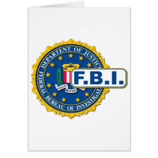 Cartão Modelo do selo do FBI