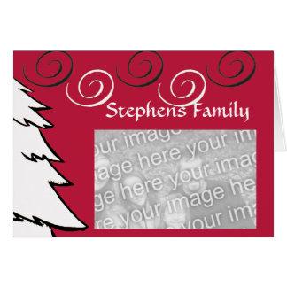 Cartão Modelo encaracolado do Natal
