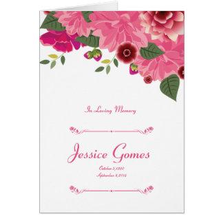 Cartão Modelo fúnebre floral do programa