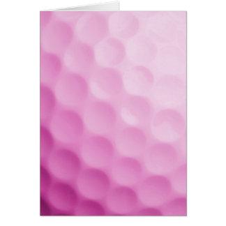 Cartão Modelo Golfing dos esportes do fundo cor-de-rosa