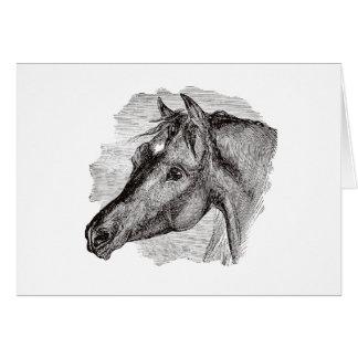Cartão Modelo inteligente do cavalo do vintage