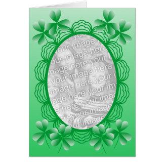 Cartão Modelo irlandês do quadro da foto