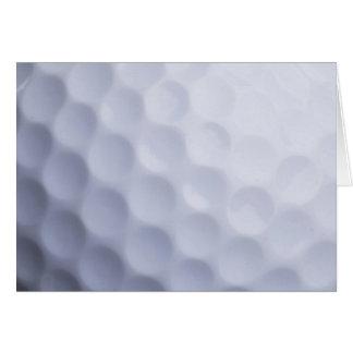 Cartão Modelo personalizado fundo da bola de golfe