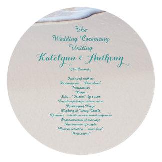 Cartão Modelo redondo do programa da cerimónia de
