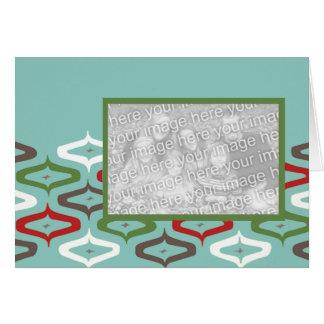 Cartão modelo retro da foto do ornamento