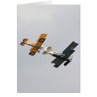 Cartão Modelos do camelo e do Fokker D.VII de Sopwith