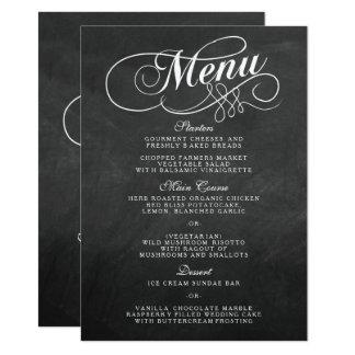 Cartão Modelos elegantes do menu do casamento do quadro