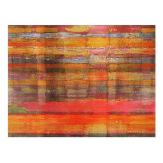 Cartão moderno alaranjado da arte abstracta