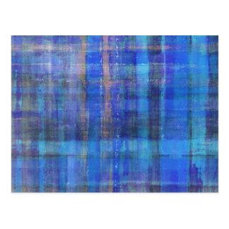 Cartão moderno azul da arte abstracta