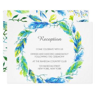 Cartão moderno brilhante da recepção de casamento convite 8.89 x 12.7cm