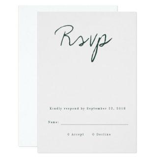 Cartão moderno da caligrafia RSVP Convite 8.89 X 12.7cm
