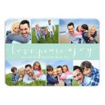 Cartão moderno da colagem da foto do feriado da convite 12.7 x 17.78cm