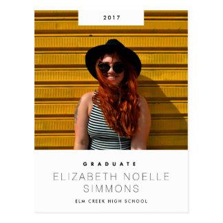 Cartão moderno da foto da graduação da tendência