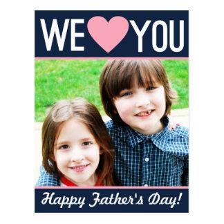 Cartão moderno da foto do dia dos pais
