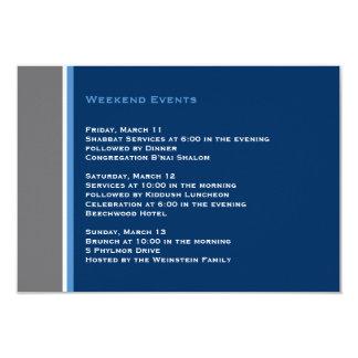 Cartão moderno da inserção de Mitzvah do bar da