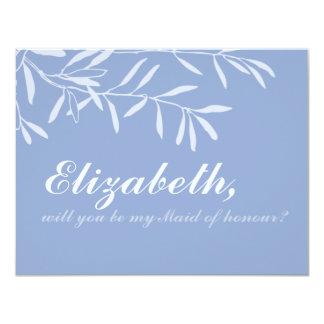 Cartão moderno da madrinha de casamento da convite 10.79 x 13.97cm