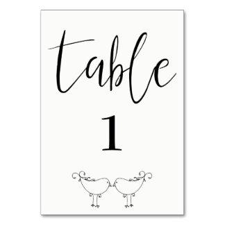 Cartão moderno da mesa dos Lovebirds
