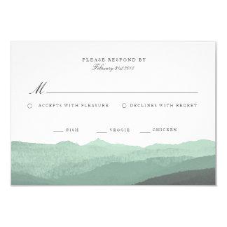Cartão moderno da montanha RSVP da aguarela Convite 8.89 X 12.7cm