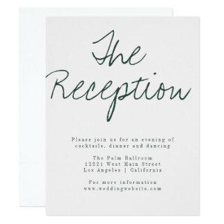 Cartão moderno da recepção da caligrafia convite 10.79 x 13.97cm