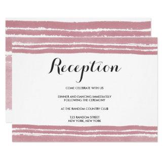 Cartão moderno da recepção de casamento da
