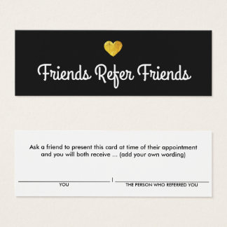 Cartão moderno da referência do cliente do coração