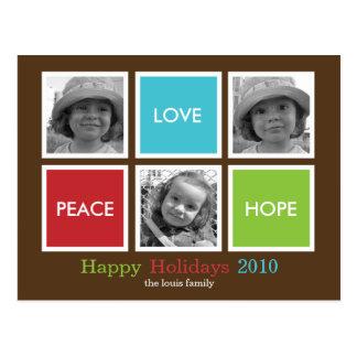 Cartão moderno de /Holiday do cartão de Natal dos Cartão Postal