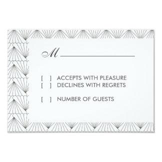 Cartão moderno do art deco RSVP Convites Personalizado