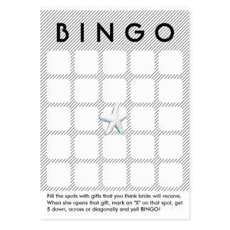 Cartão moderno do Bingo do chá de panela das listr Modelos Cartão De Visita