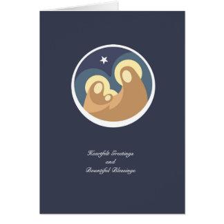 Cartão moderno do feriado da natividade (foto