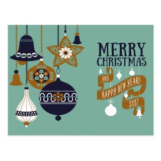 Cartão moderno do Natal