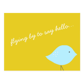 Cartão moderno do pássaro cartão postal