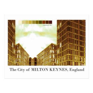 Cartão moderno do sepia de Milton Keynes