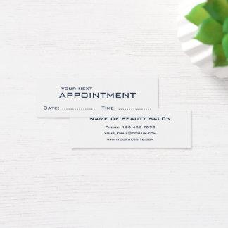 Cartão moderno minimalista branco azul escuro da