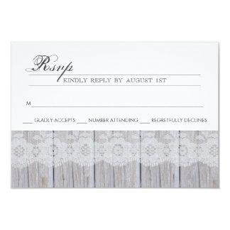 Cartão moderno rústico de RSVP Convite 8.89 X 12.7cm