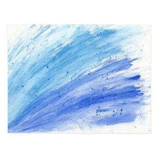 Cartão modernos do respingo da cor de água