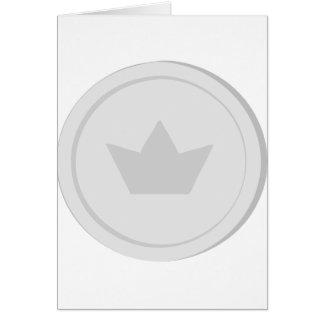 Cartão Moeda de prata